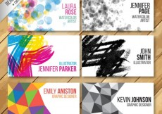 Free vector Collection of artistic visit cards #33036