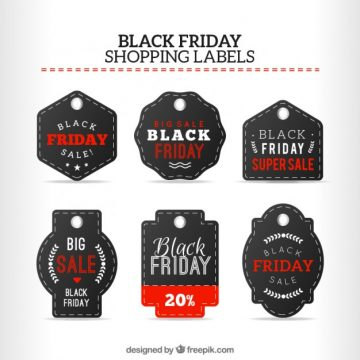 Free vector Collection of black friday shopping labels #33811