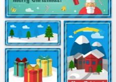 Free vector Collection of christmas banners and cards #30753