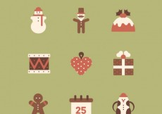 Free vector Collection of christmas element icons #33190