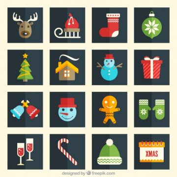 Free vector Collection of christmas icons #34147
