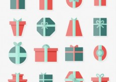 Free vector Collection of flat gifts #30721