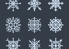 Free vector Collection of geometric snowflakes #30382
