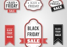 Free vector Collection of retro black friday badges #33248
