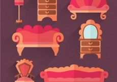 Free vector Collection of retro furniture #30531
