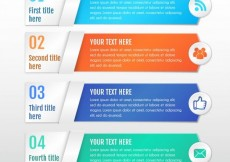 Free vector Colored infographic banners template #33422
