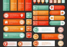 Free vector Colored infographic banners #32984