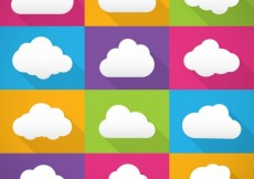 Free vector Colorful clouds collection #34203