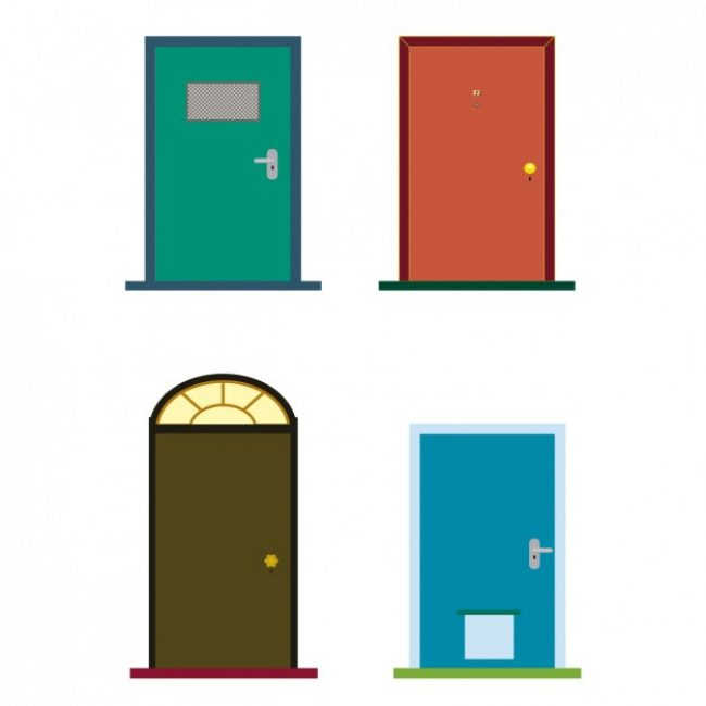 Free vector colorful doors #30978