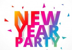 Free vector colorful happy new year lettering #31886