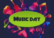Free vector Colorful Music Day Background #28711