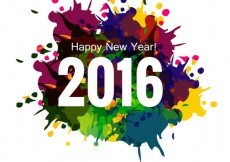 Free vector Colorful new year 2016 greeting card #30972