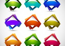 Free vector Colorful Squares Set #28831