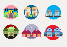 Free vector Colorful Townhomes vector #28895