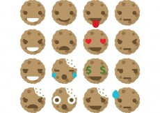 Free vector Cookies Emoticon Vectors #34099