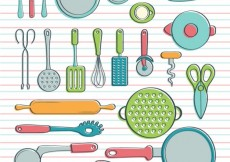 Free vector Cookware in hand drawn style #32342