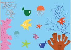 Free vector Coral Reef with Fish Background #33851