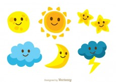 Free vector Cute Characters Sky Icons #31767
