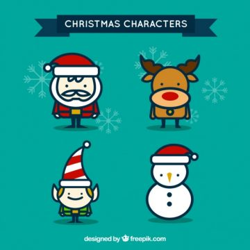 Free vector Cute christmas characters #29307
