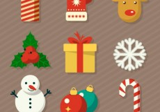 Free vector Cute christmas elements collection #28946