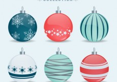 Free vector Cute collection of christmas baubles #32651