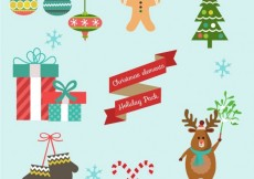 Free vector Cute collection of christmas elements #32070