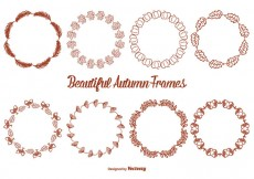 Free vector Cute Hand Drawn Style Autumn Frame Set #29887