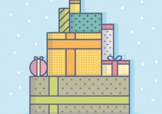 Free vector Cute stacked gifts #30723