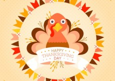 Free vector Cute thanksgiving turkey #33817