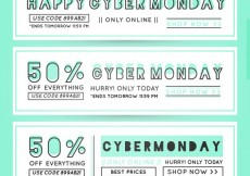 Free vector Cyber Monday Banners Set #28721