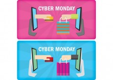 Free vector Cyber Monday Banners #34214
