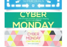 Free vector cyber monday banners #28938
