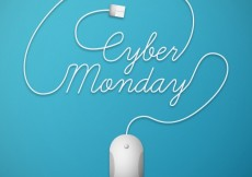 Free vector Cyber monday lettering #33402