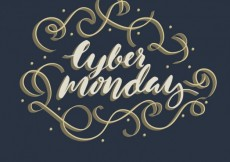 Free vector Cyber monday lettering #30294