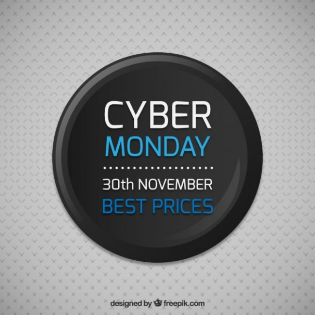 Free vector Cyber monday sale button #33404