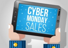 Free vector Cyber monday sales illustration #30012