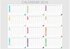 Free vector Daily Planner 2016 #32259