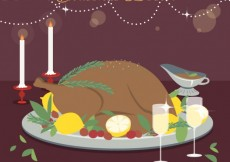 Free vector Delicious christmas dinner #32546