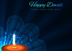 Free vector Diwali card with dark blue background #29019
