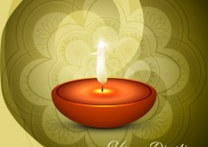 Free vector Diwali card with floral background #29117