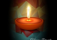 Free vector Diwali card with low poly background #28975