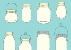 Free vector Drawn Mason Jars Collection #28769