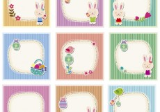 Free vector easter cute cards #34038