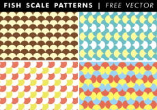 Free vector Fish Scale Patterns Free Vector #31645