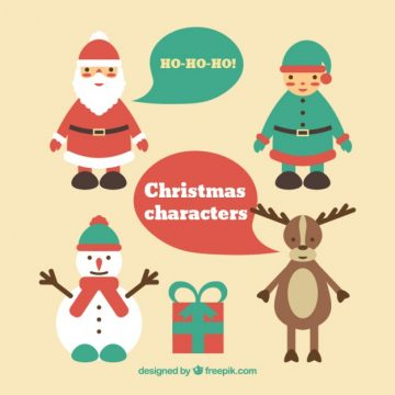 Free vector Flat christmas characters pack #31582