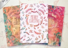 Free vector Floral christmas cards #29784