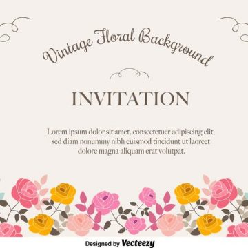 Free vector Floral Invitation Background #33135
