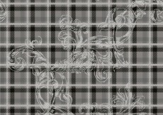 Free vector Floral pattern in grey tones #30450