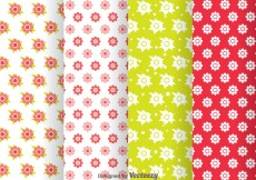 Free vector Flowers Girly Pattern #31254
