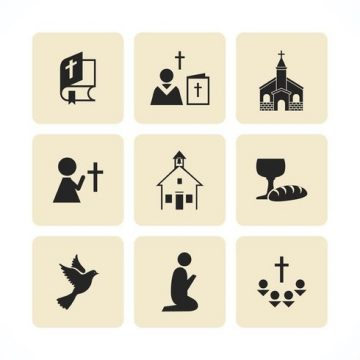 Free vector Free Christian Vector Icons #33165